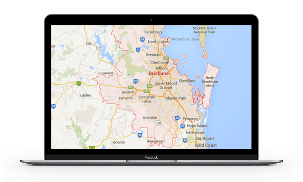 map of Redland Bay service area