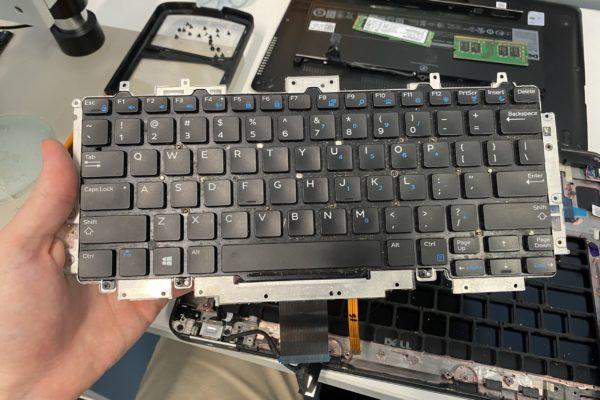 laptop keyboard being replaced