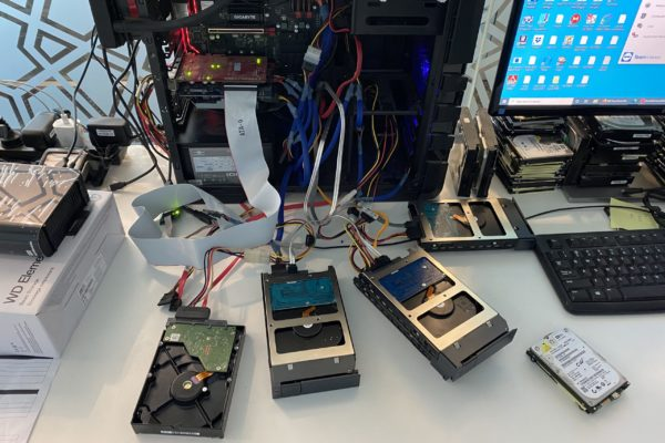 data being recovered from failed hard drives